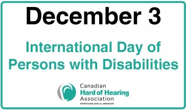 December 3rd – International Day of Persons with Disabilities
