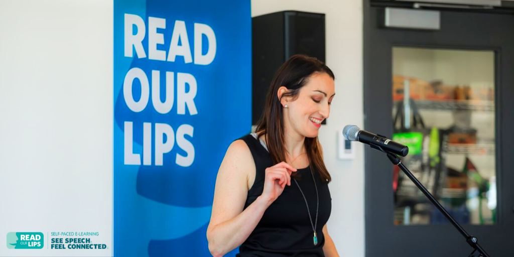 Speech about Read Our Lips from Alison Butler who discussed the course on Out of the Fog