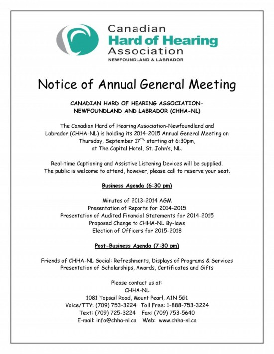 Chha-Nl 2014-2015 Annual General Meeting